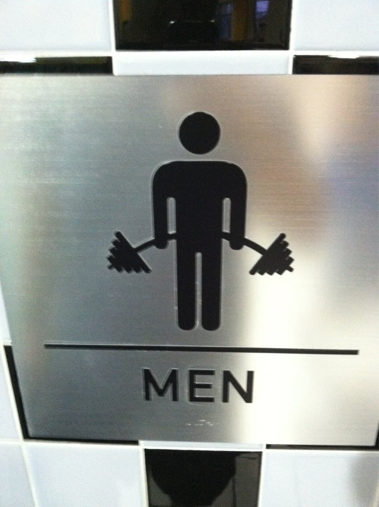 Gym restroom sign etsy