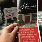 United Photo Of Marinas On The Square Italian Restaurant And Pizzeria Murfreesboro Tn
