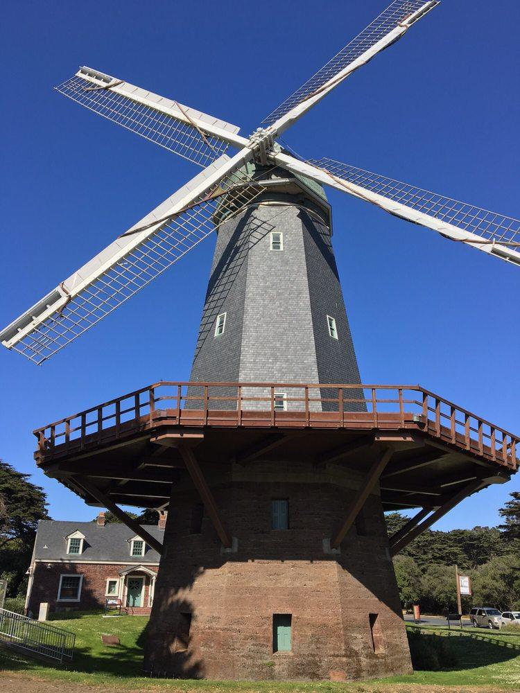 Golden Gate Park Windmills: John F Kennedy Dr & Great Hwy, San Francisco, CA