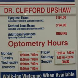 Cliff Upshaw Od Optometrists 3250 W Grant Line Rd Tracy Ca