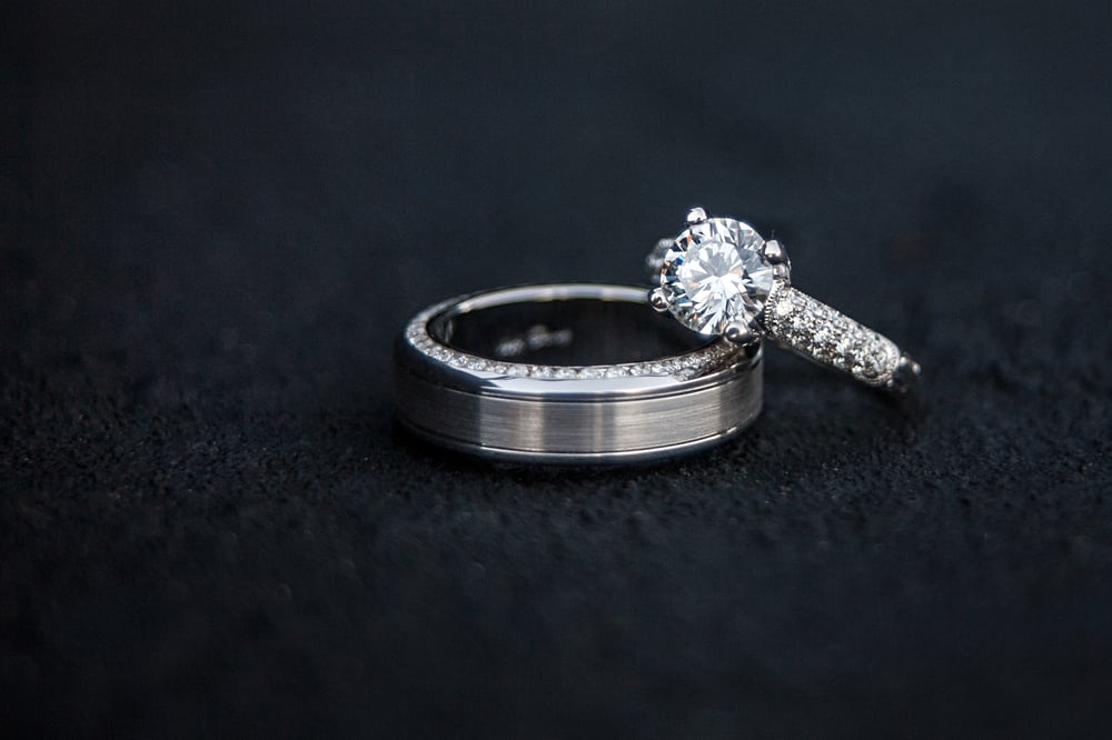 our wedding rings purchased at rogers desiree took the