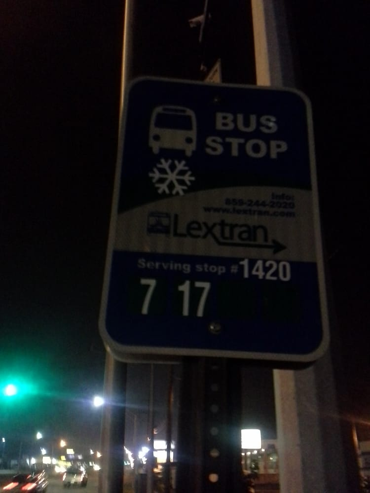 Lextran Bus Stop 1420: 597 E New Circle Rd, Lexington, KY