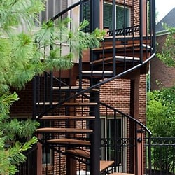 Photo Of Goddard Spiral Stairs   Logan, KS, United States. Exterior  Staircase With