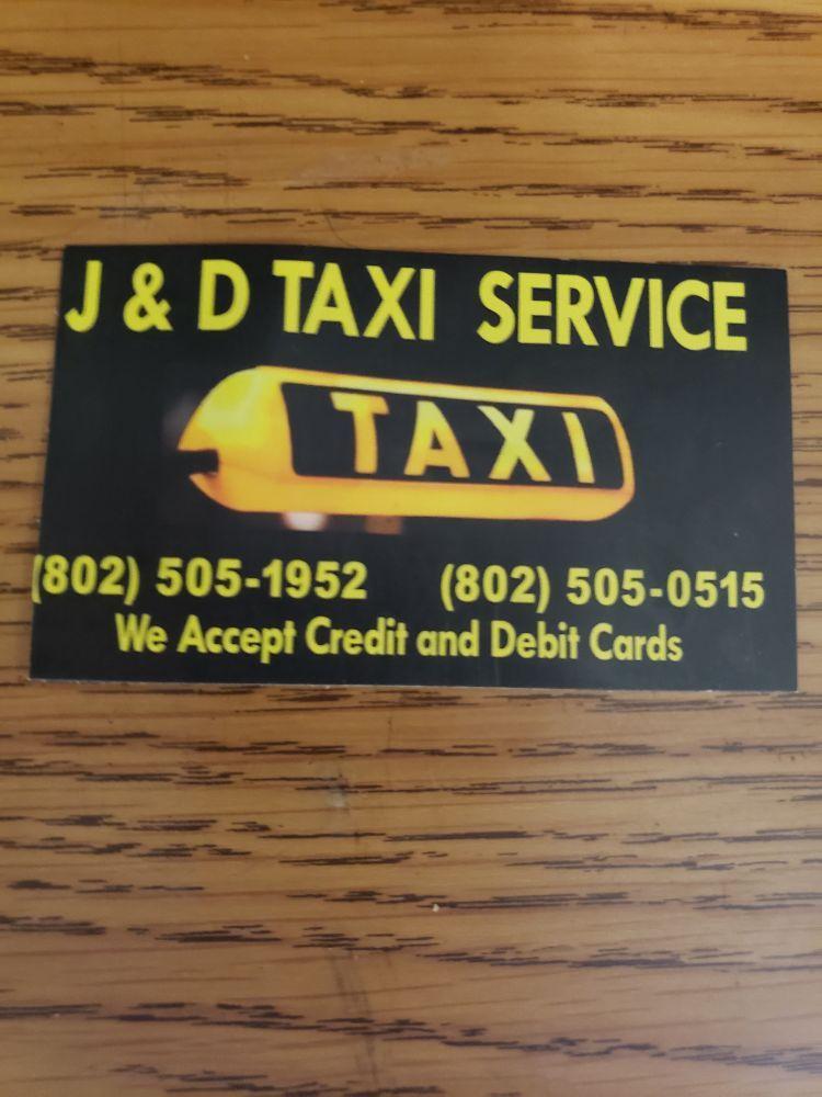 J & D taxi service: 20 George St, Barre, VT