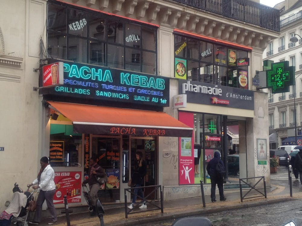 Pacha kebab kebab 19 rue d 39 amsterdam saint lazare grands magasins paris france - Restaurant saint lazare paris ...