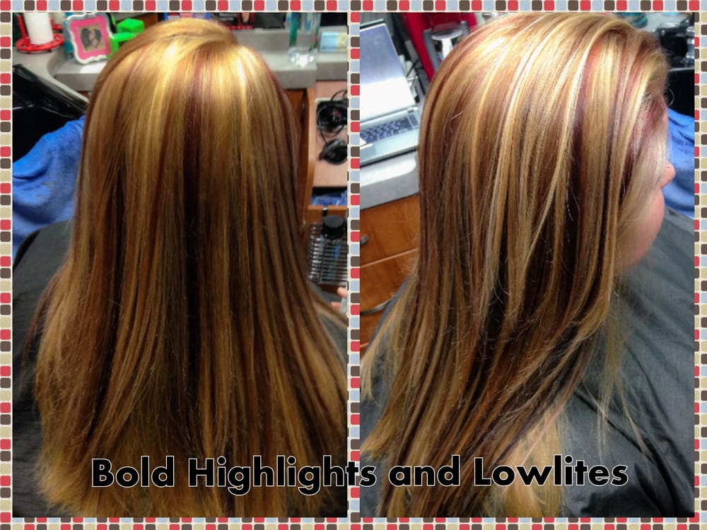 Red Lowlights And Blonde Highlights Yelp