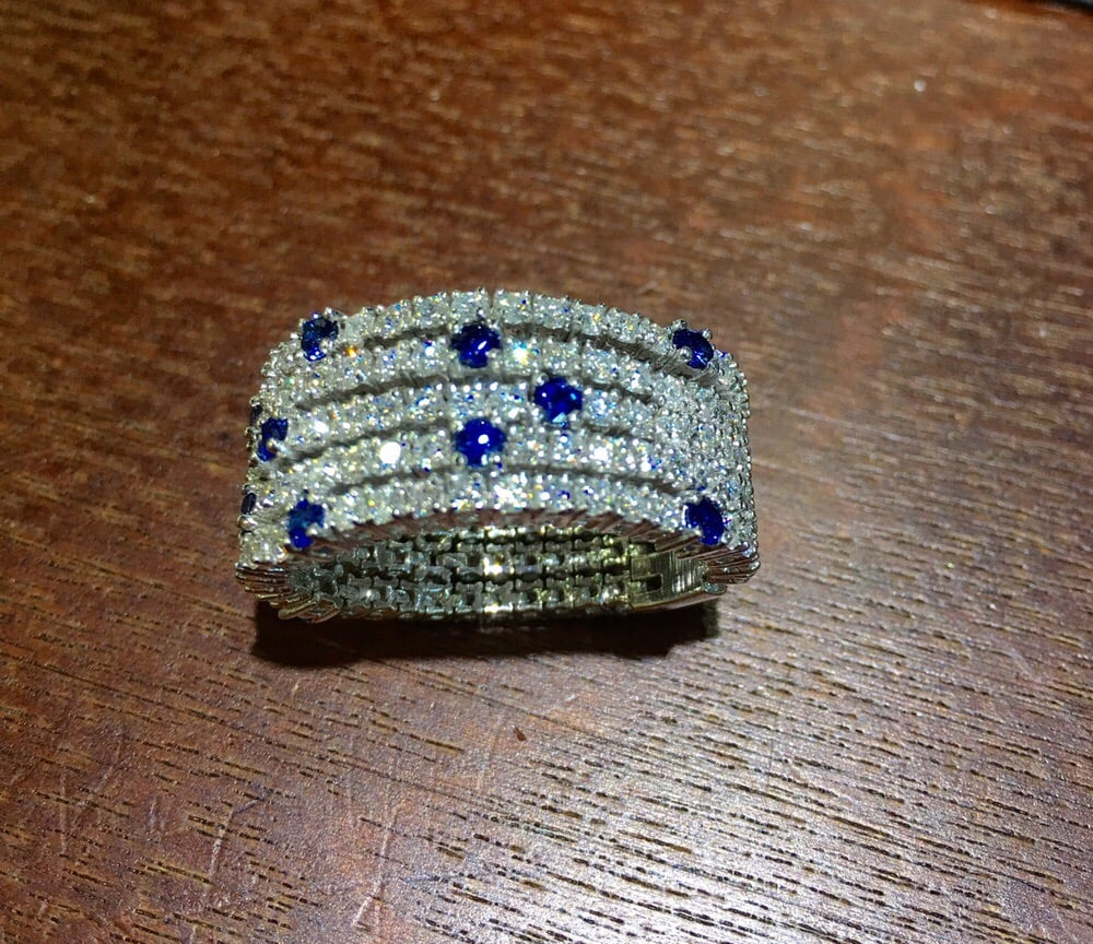 Diamond and sapphire flexible band what a beauty yelp for Sapphire studios jewelry reviews