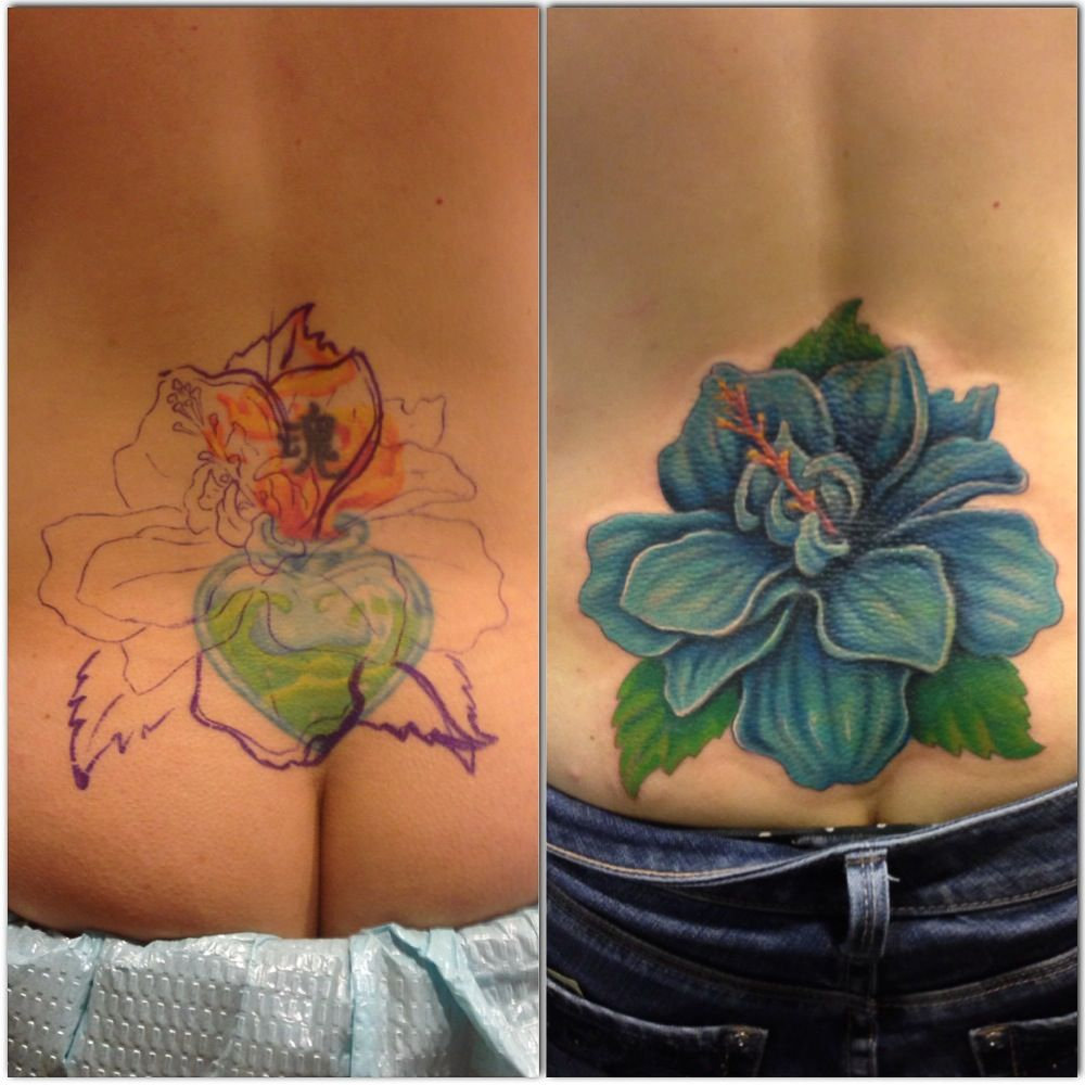Cover up tattoo by loki shane defriece yelp for Silver fox tattoo