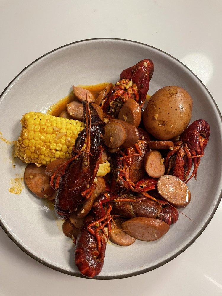 Food from Grab Crab Cajun Seafood