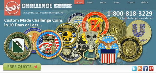 Challenge Coins Limited - Hobby Shops - 100 Old Cherokee Rd