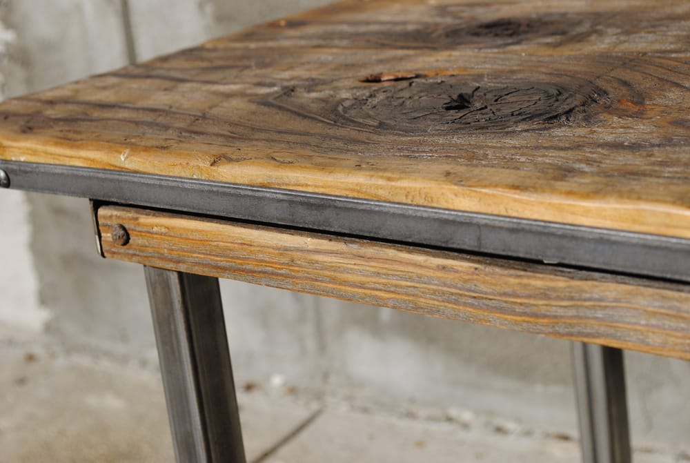 Reclaimed barn wood end table yelp for Local reclaimed wood