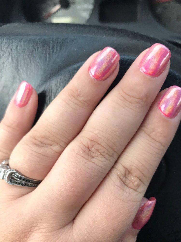 Hot pink chrome nails! No chip! - Yelp