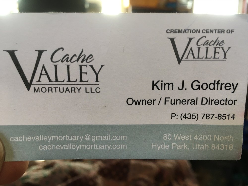 Cache Valley Mortuary: 80 W 4200th N, Hyde Park, UT