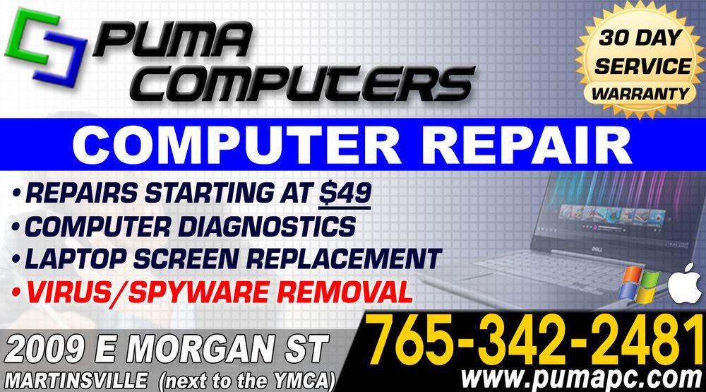Puma Computers: 2009 E Morgan St, Martinsville, IN
