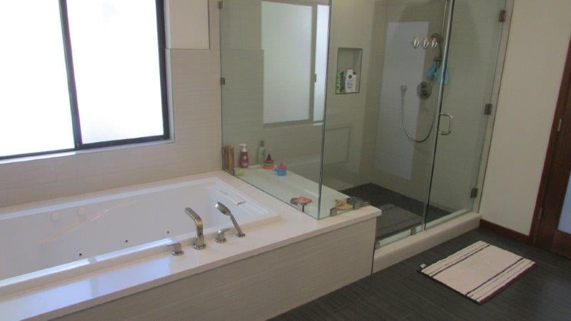 Master Bathroom Tub & Shower Next To Each Other