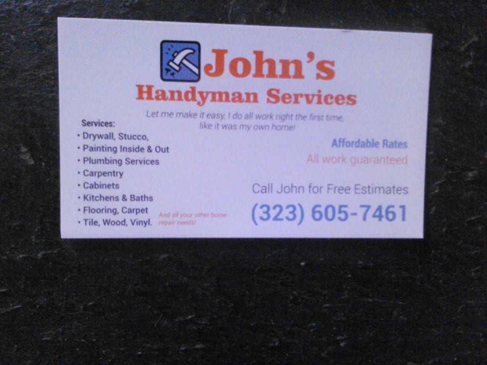 This is my business card with a list of some of my services yelp photo of johns handyman services east los angeles ca united states this colourmoves