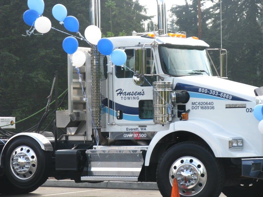 Hansen's Towing: 3409 McDougall Ave, EVERETT, WA