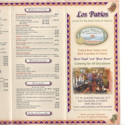 Photo Of Los Patios   San Clemente, CA, United States. Menu As Of