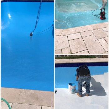 In ground swimming pool epoxy paint job. - Yelp