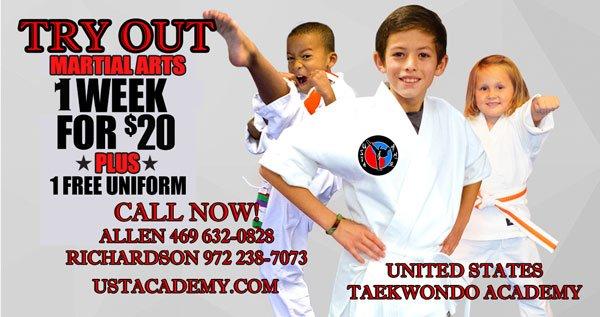 United States Taekwondo Academy: 190 E Stacy Rd, Allen, TX