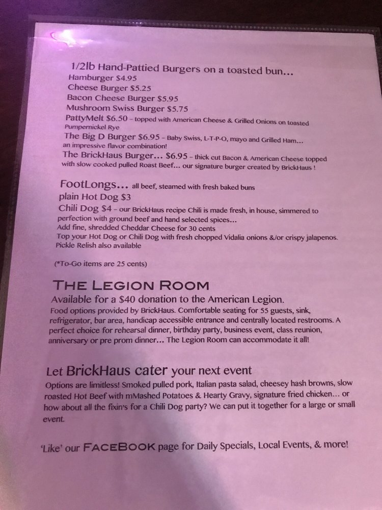 BrickHaus Bar & Grill: 302 1st St N, Farley, IA