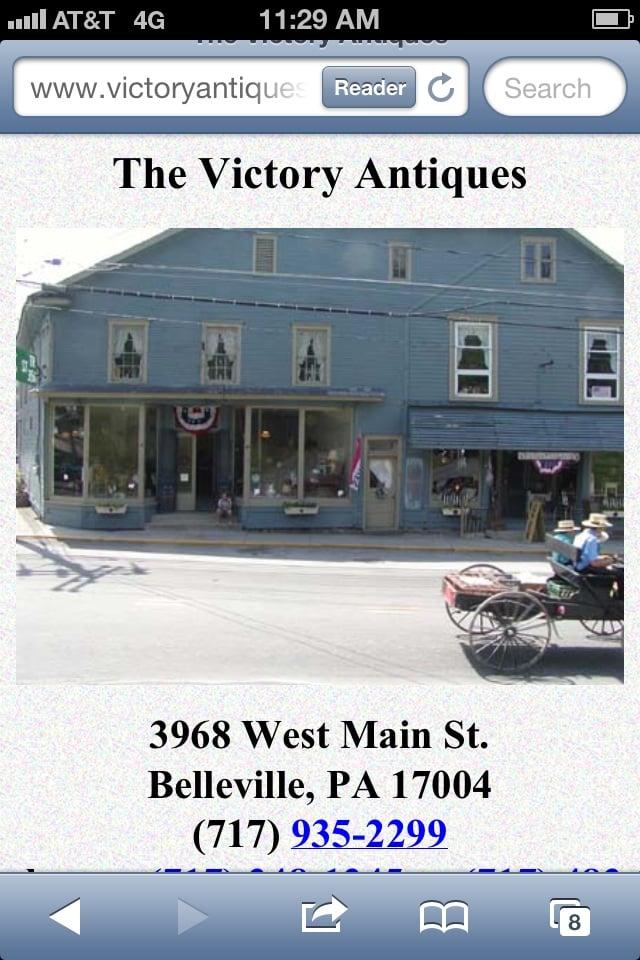 Victory Antiques: 3968 W Main St, Belleville, PA