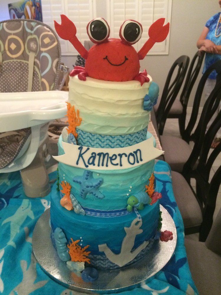 First Birthday Cake With Under The Sea Theme Yelp