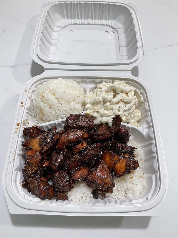 Food from Hawaiian Bros Island Grill