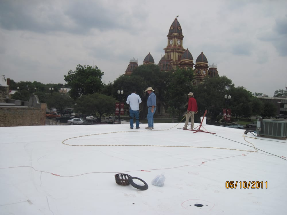 Finishing Up The Roofing Job In Lockhart Texas Removing