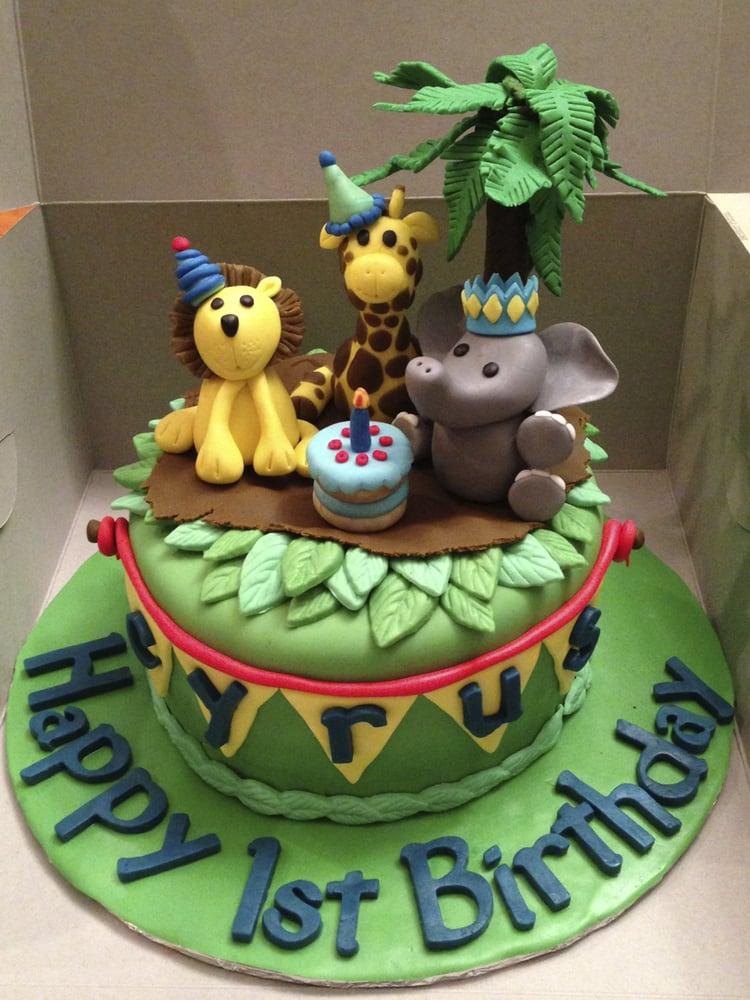 Baby Animals First Birthday Cake Yelp