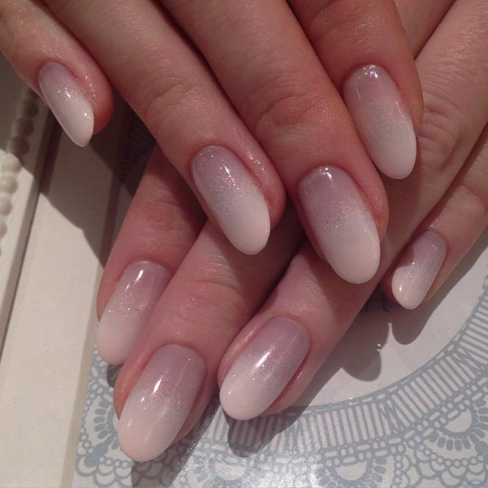 Gel gradation design, almond shaped, done on natural nails. - Yelp
