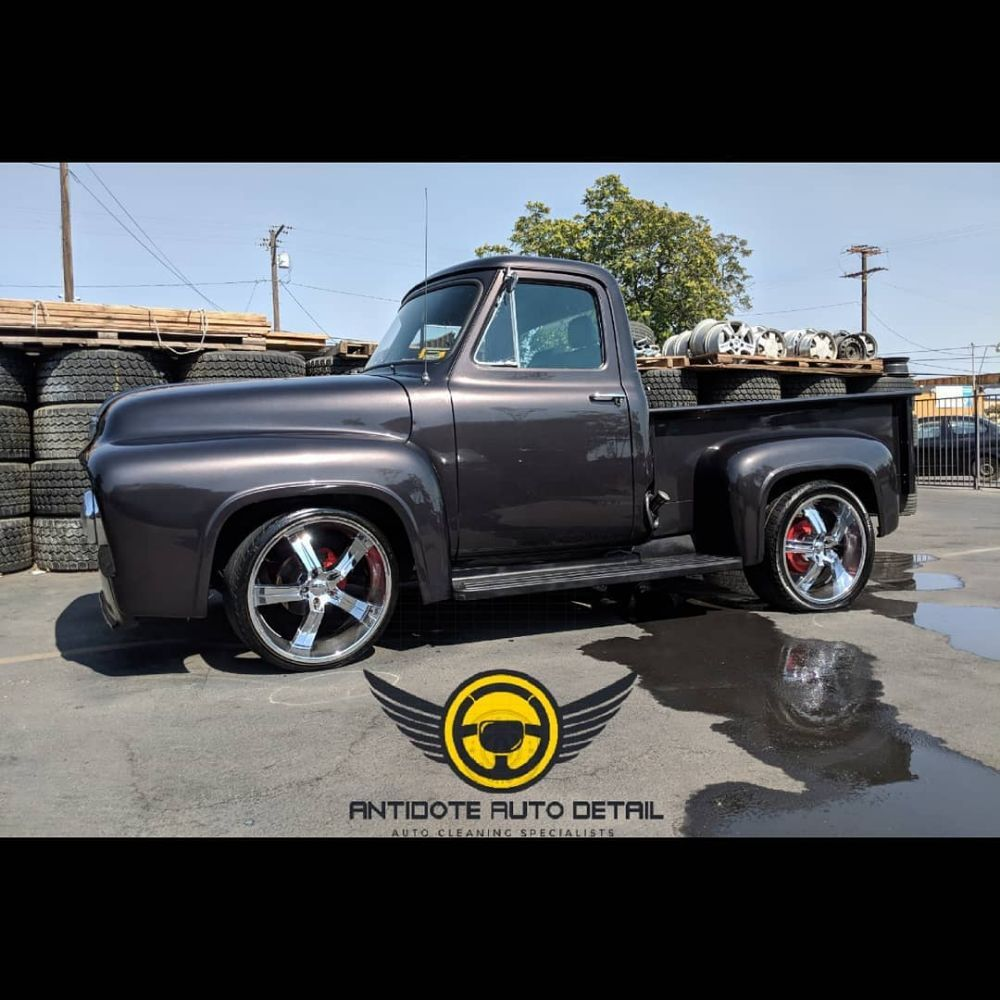 1955 Ford F100 This Beauty Was Treated With Over Spray Removal And Wheels Photo Of Antidote Auto Detail Beaumont Ca United States