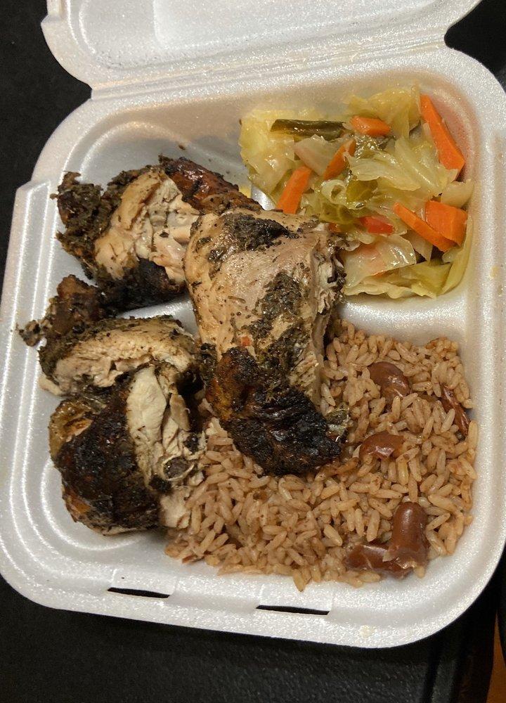 Food from Island Grill & Pub