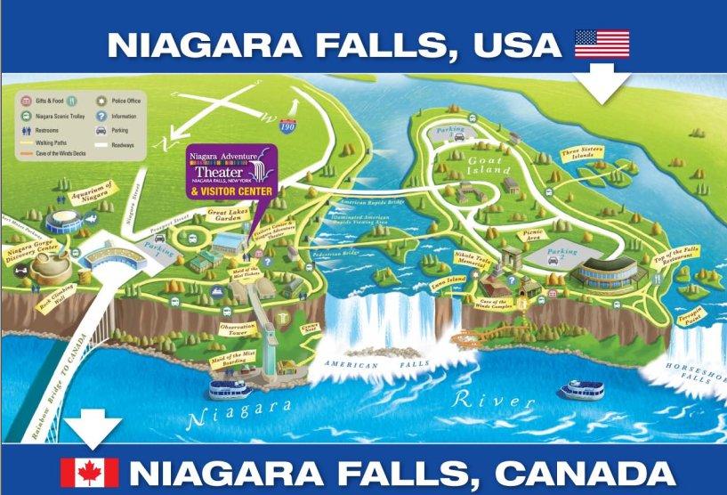 Map of Niagara Falls State Park Yelp