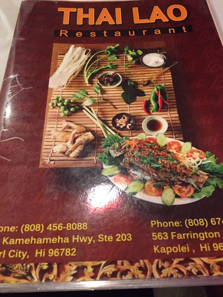 Menu cover yelp for Ano thai lao cuisine