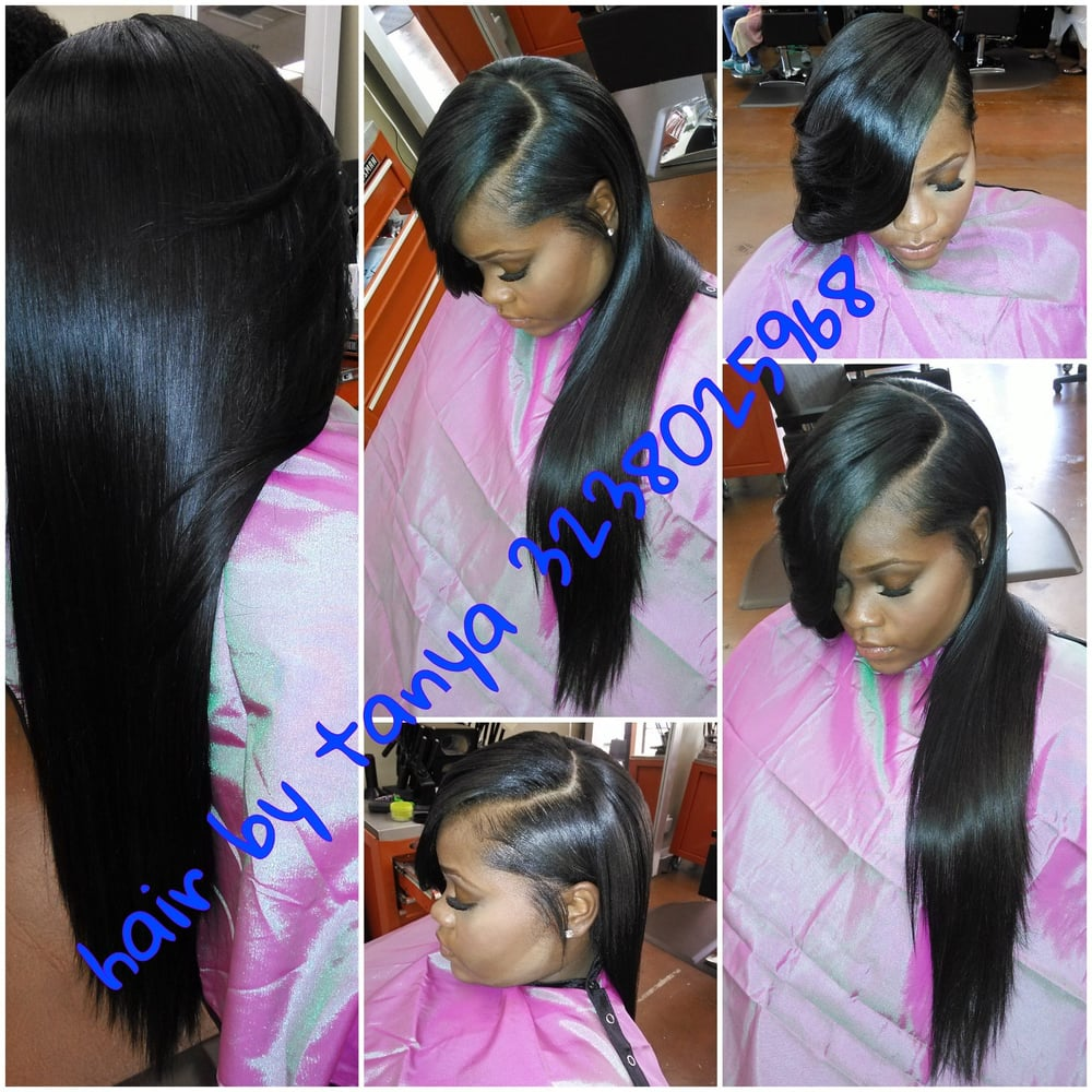 Partial Weave Installation 15 Oz Of Hair Installed Celebrity