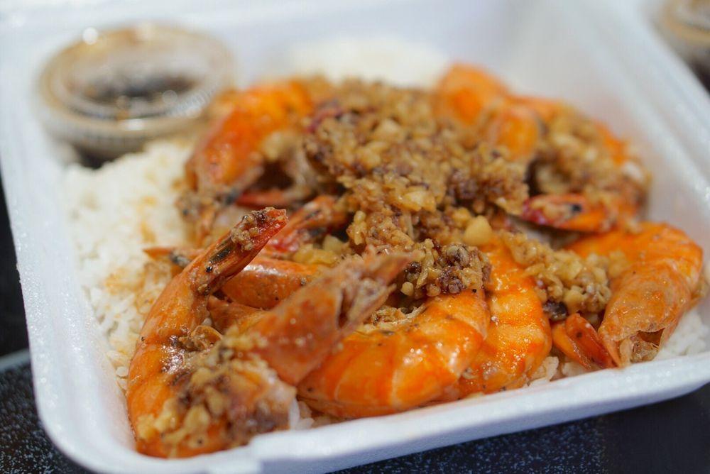 Romy's Kahuku Prawns & Shrimp: 56-781 Kamehameha Hwy, Kahuku, HI