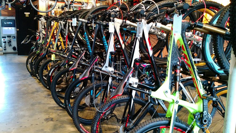 Mountain bikes, fancy around town bikes, great selection. I\'ve been ...