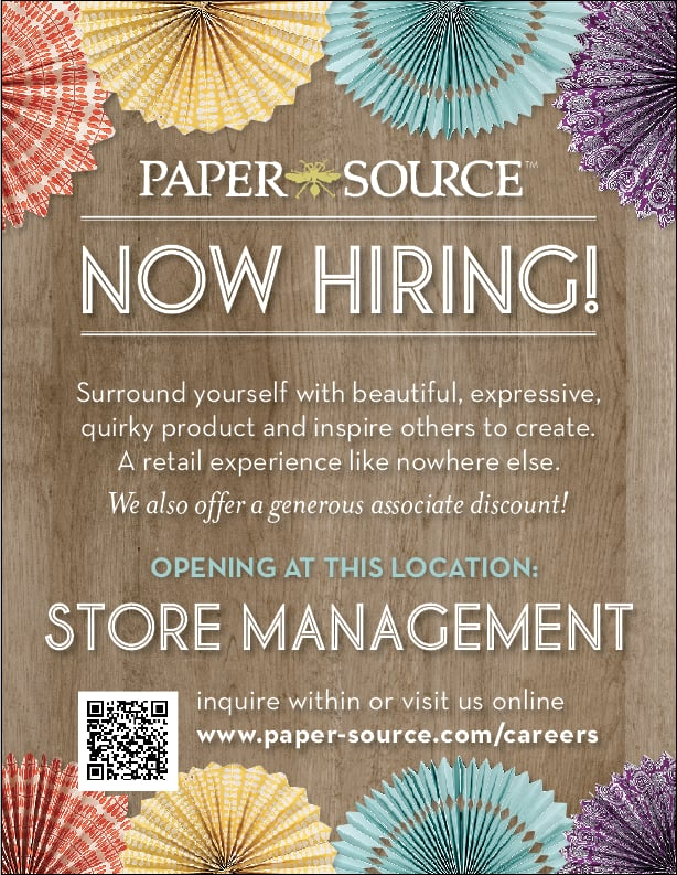 paper source careers 1-click job application allows you to apply to 113+ jobs at paper source  find career vacancies near you that are hiring now on ziprecruiter.