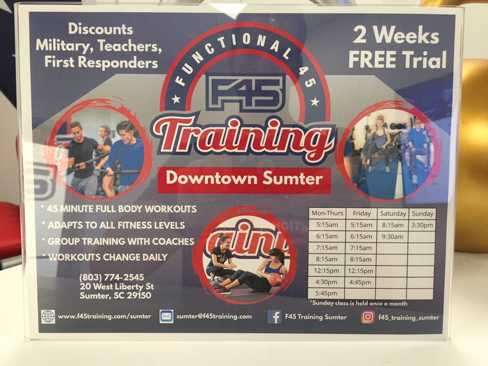 F45 Training Sumter: 20 West Liberty, Sumter, SC