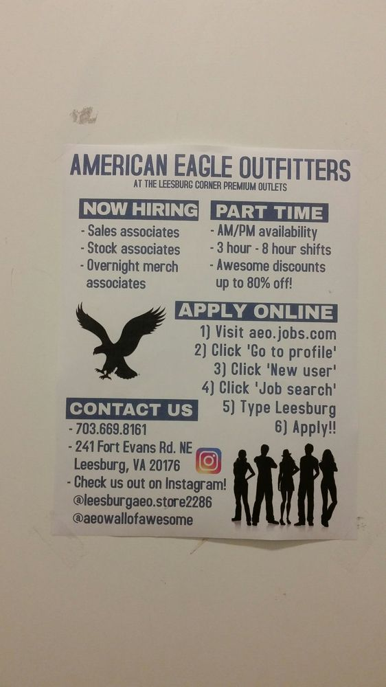 American Eagle Outfitters: 215 Fort Evans Rd NE, Leesburg, VA