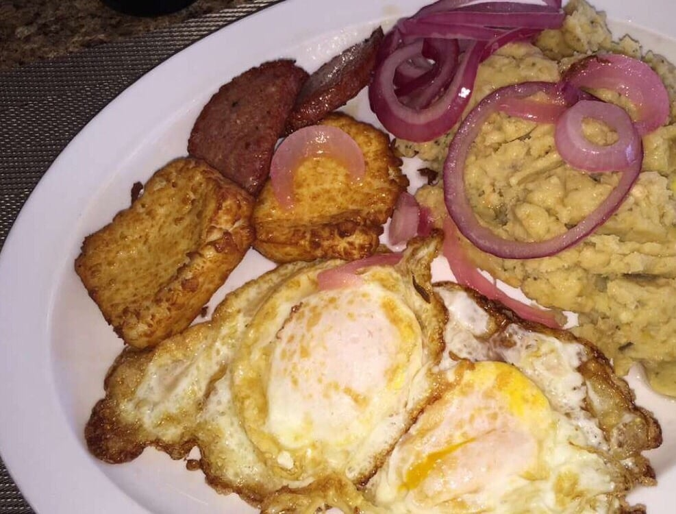 Best Mangu In Nc Made With Mashed Boiled Green Plantains