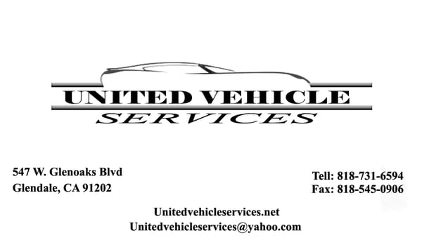 United vehicle services departments of motor vehicles for Department of motor vehicles glendale ca