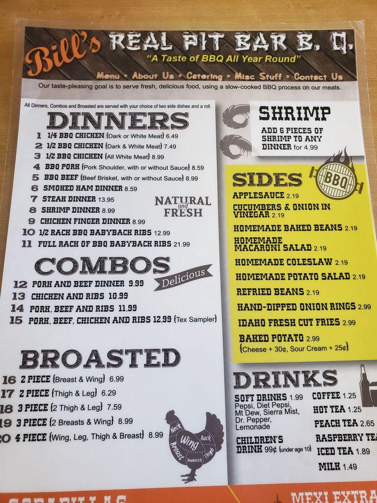 Bill's Real Pit BBQ: 5945 Frazeysburg Rd, Nashport, OH
