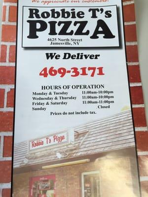 Robbie T's Pizza 4625 North St Jamesville, NY Pizza - MapQuest