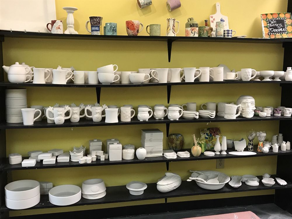 Photo of Doodlin Pottery Studio - Cincinnati, OH, United States. A number of items to choose from