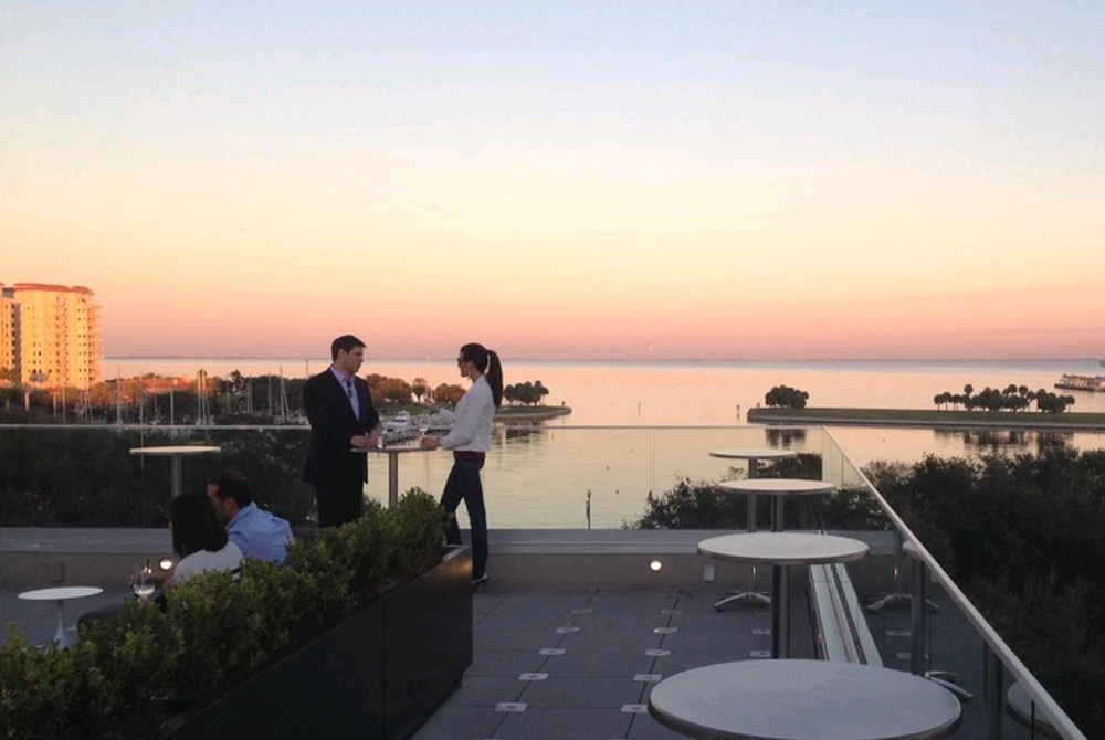 Nice Sunset View At The Birchwood Canopy Rooftop Lounge