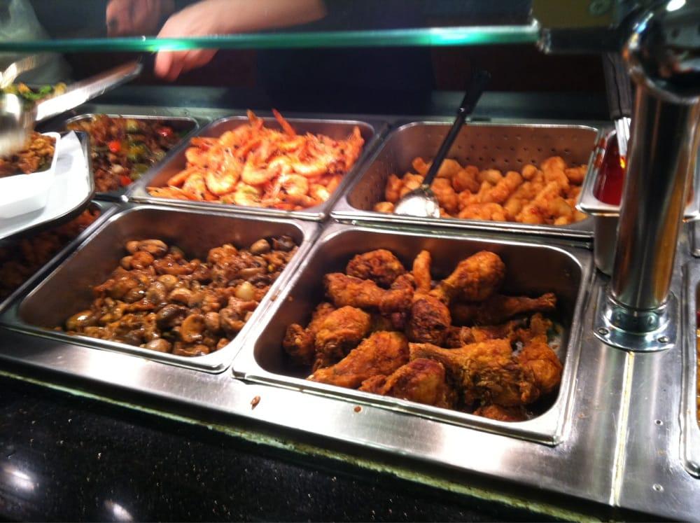 Shrimp fried fish chicken drumsticks and mushroom pork for Jr fish and chicken