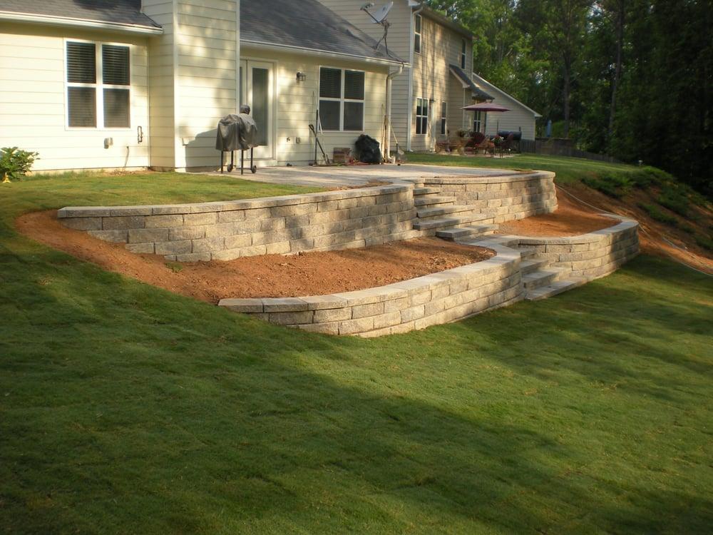 Terraced Retaining Walls w/ Steps - Yelp
