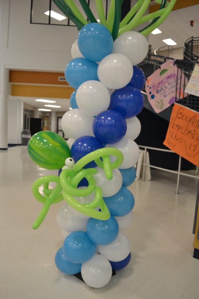 Balloon Column Under The Sea Theme Create Balloon Decor For All